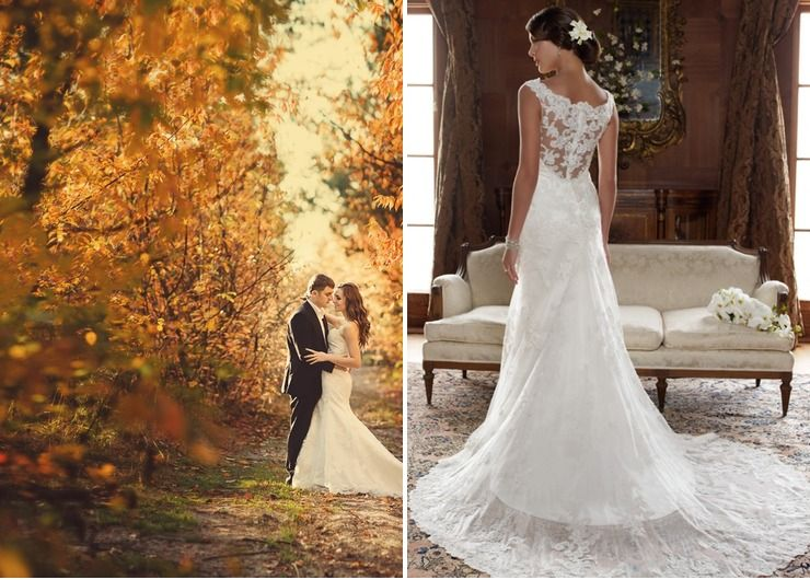 Wedding dresses in Autumn