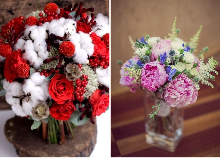 Bridal bouquet Pink in Winter