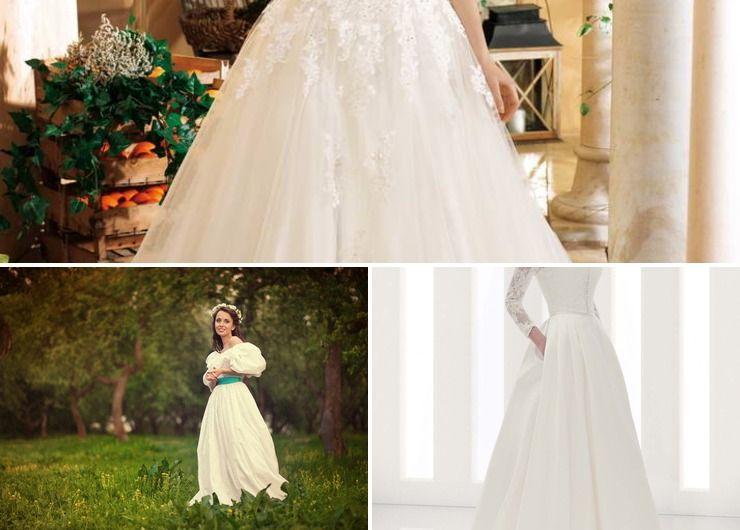 Wedding dresses Blue in Summer Rustic