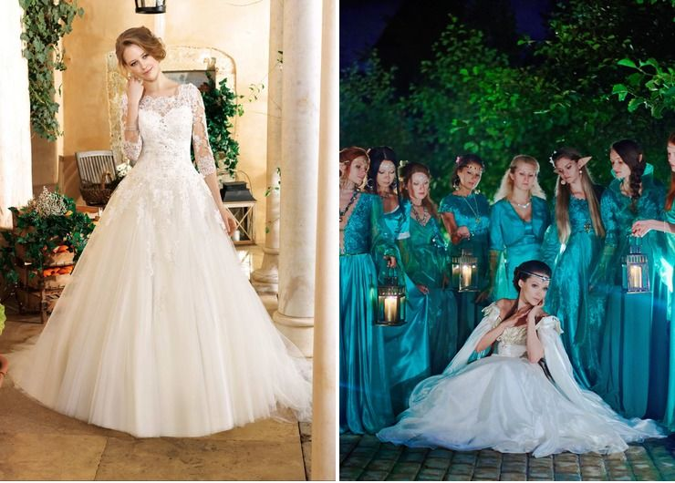 Wedding dresses Blue Themed