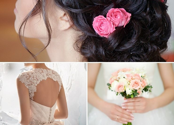 Mediterranean ivory bridal style