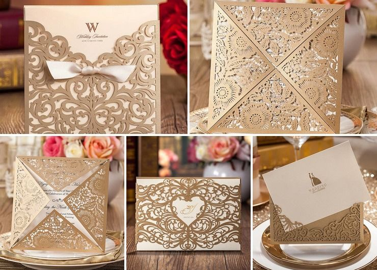 Golden Elegant Invitations