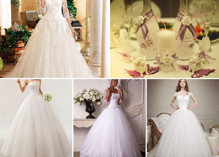 Wedding dresses Purple Vintage