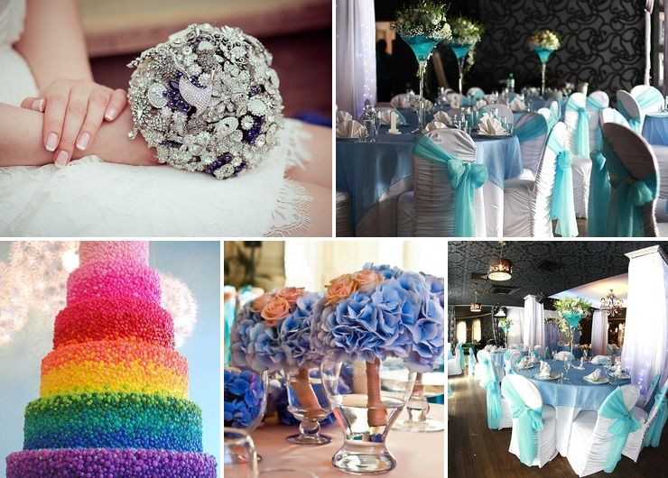 Bridal bouquet Blue Rustic