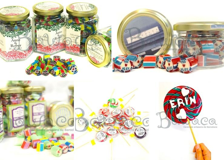 Customized candies and lollypops
