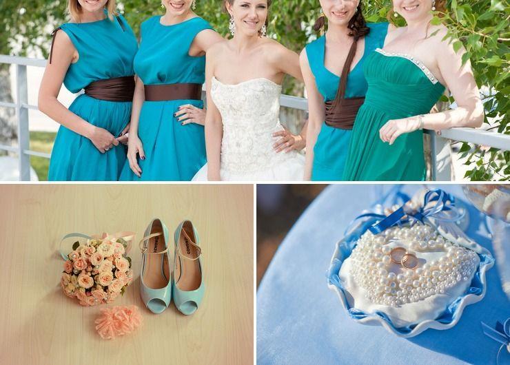 Marine blue wedding accessories