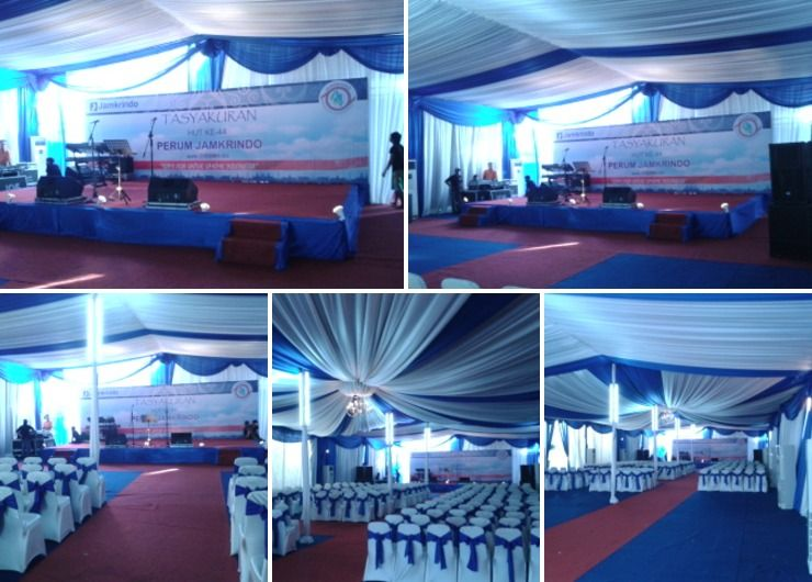 Sewa Tenda Event Ulang Tahun PT.JAMKRINDO ( Kemayoran Jakarta Pusat )