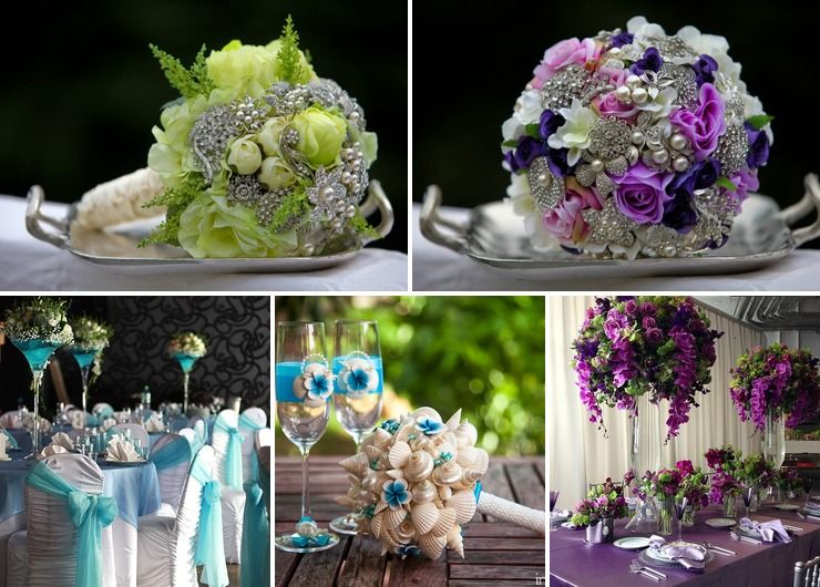 Marine winter wedding reception decor