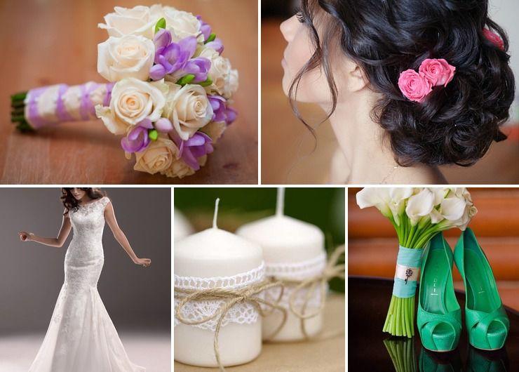 Mediterranean spring bridal style