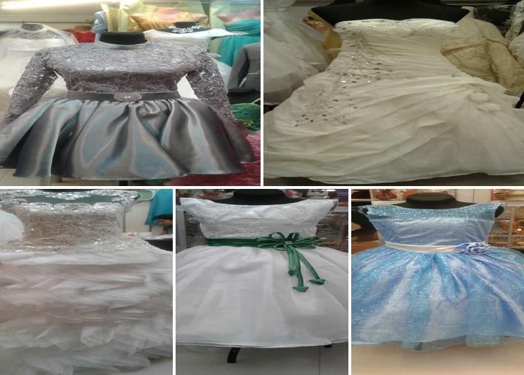 tunay na gawang gowns...