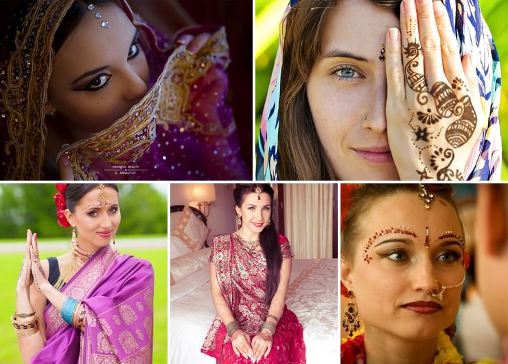 Traditional makeup and hair