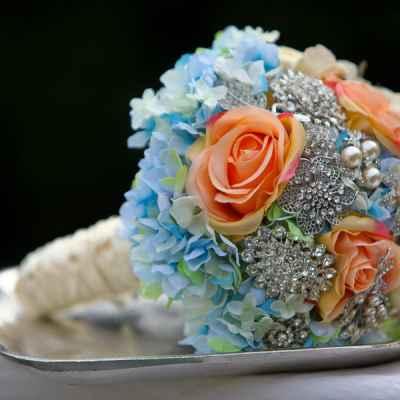 Vintage orange alternative wedding bouquet