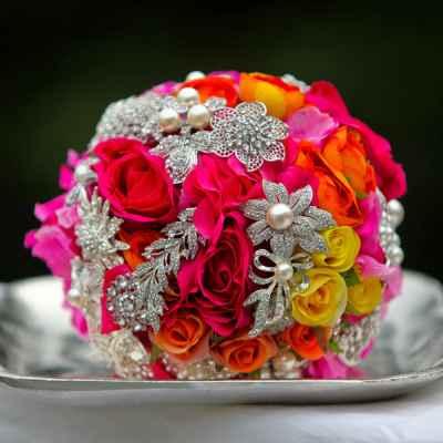Vintage pink alternative wedding bouquet