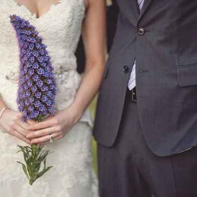 Summer purple alternative wedding bouquet