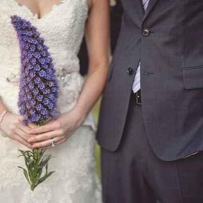 Summer purple alternative wedding bouquet