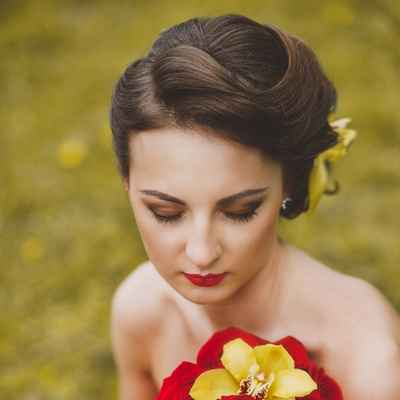 Outdoor autumn bridal style