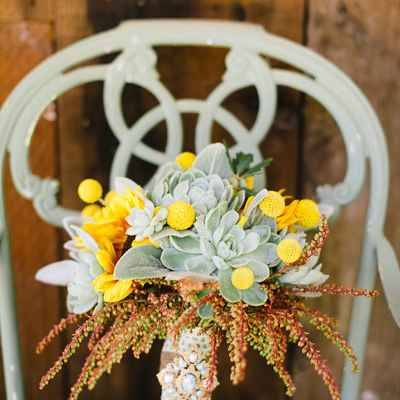 Autumn yellow alternative wedding bouquet