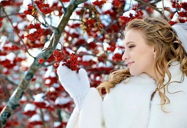 Winter long wedding hairstyles