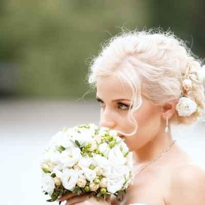 White long wedding hairstyles