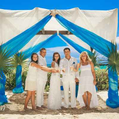 Overseas blue real weddings