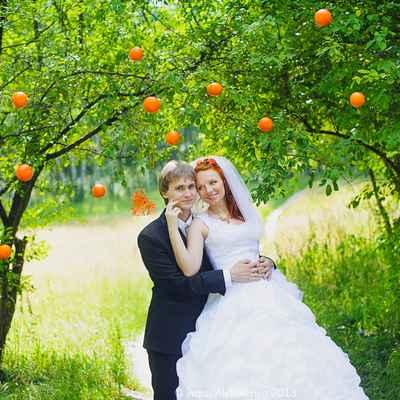 Summer orange real weddings