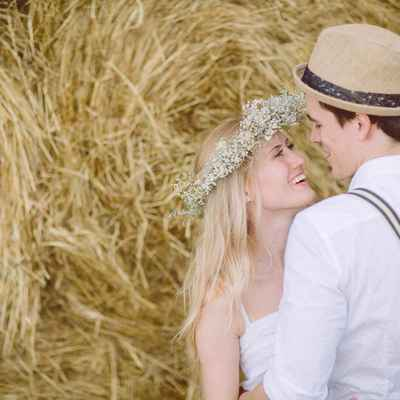 Rustic summer real weddings