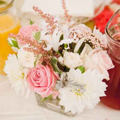 French pink wedding floral decor