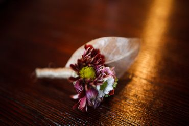 Autumn brown buttonhole