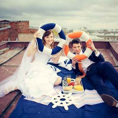 Marine orange real weddings
