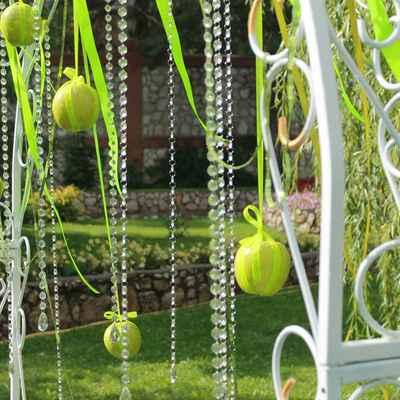 Summer green wedding ceremony decor