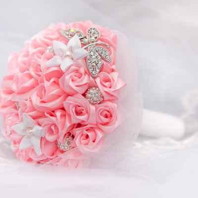 Pink alternative wedding bouquet