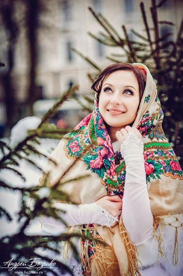 Ethnical winter photo session decor