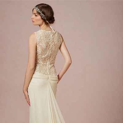 Chicago ivory short sleeve wedding dresses