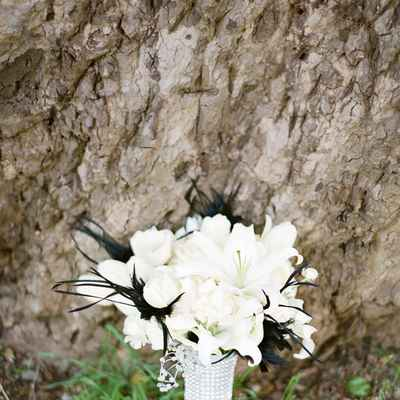 Black lilly wedding bouquet
