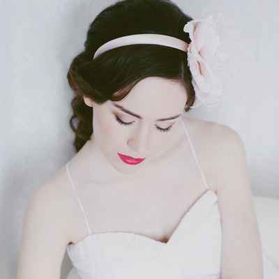 Pink long wedding hairstyles