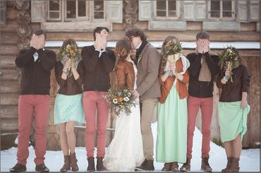 Winter green real weddings