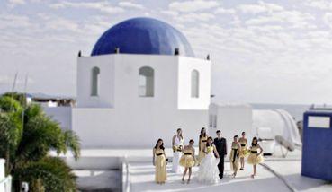 Marine yellow real weddings