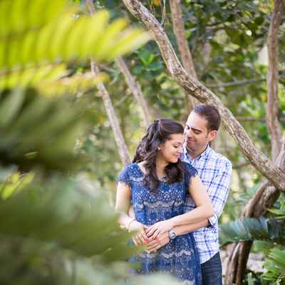 Outdoor blue engagement