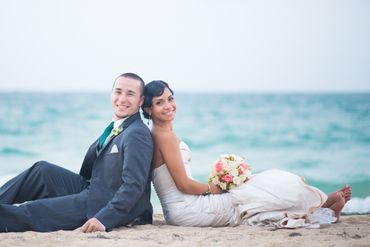 Beach summer real weddings