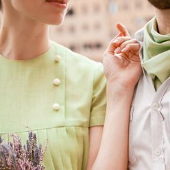 Vintage green real weddings