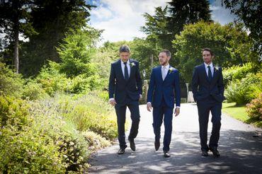 Blue groom style