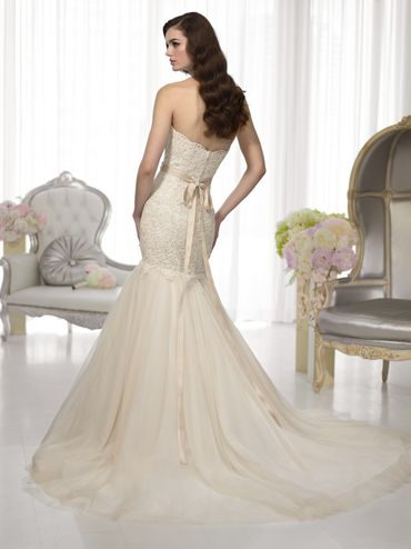 European ivory long wedding dresses