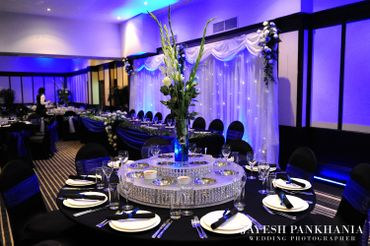 European purple wedding reception decor