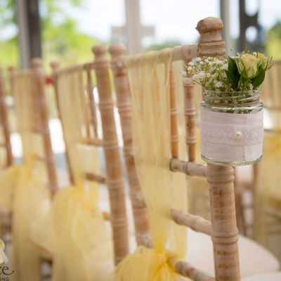 European white wedding floral decor