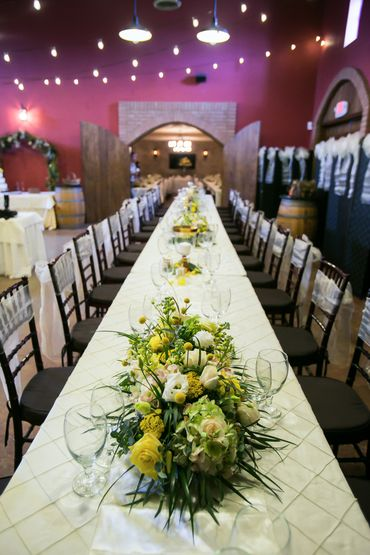 Green wedding floral decor
