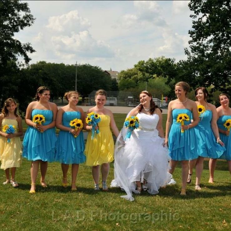 Our Beautiful Wedding Parties with Our Custom Florals