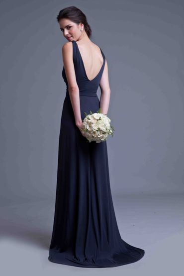 Black long wedding dresses