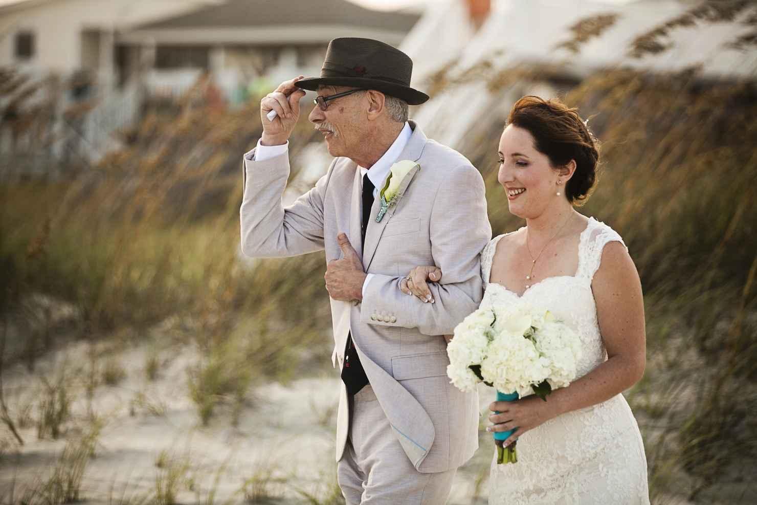 Brown wedding guests