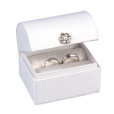 White wedding ring pillows