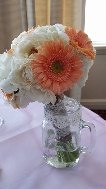 Gerbera wedding bouquet